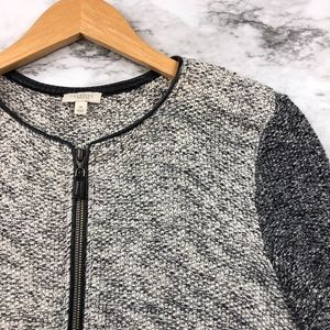 Talbots Faux Leather & Metallic Accents Sweater